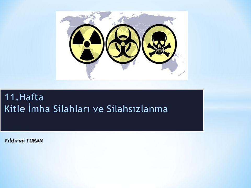 ' Silahsızlanma / Silahların Sınırlandırılması Tarih tanmlayabilecek Nükleer silahların yayılmasının önlenmesi bağlamında en önemli gelişme Nükleer Silahların Yayılmasının Önlenmesi Anlaşması (Non-Proliferation Treaty- NPT) olmuştur.