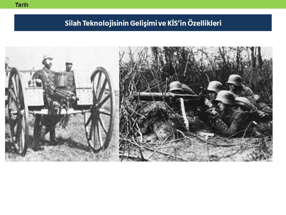 Silah Teknolojisinin Gelişimi ve KİS'in Özellikleri Özellikle ikinci Dünya Savaşı'nda etkisini gösteren zırhlı taşıyıcılar ve tanklar ile Almanlar tarafından geliştirilerek ikinci Dünya Savaşı'nda kullanılan balistik füzeler, silah teknolojisinde yeni bir aşamaya geçilmesine neden olmuştur.