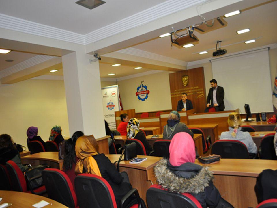 KOSGEB ve Karabük Ticaret ve Sanayi Odası işbirliğinde düzenlenen Odamız ev sahipliğinde Kadın Girişimcilerine Yönelik eğitimin 1.etabı 18.12.2015 tarihinde başladı.