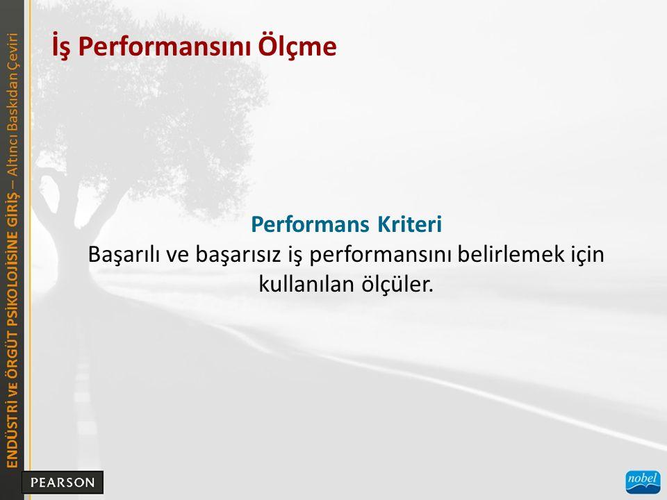 İş Performansını Ölçme  OBJEKTİF VE SUBJEKTİF PERFORMANS KRİTERLERİ Kolayca hesaplanan iş performansı ölçüleri.