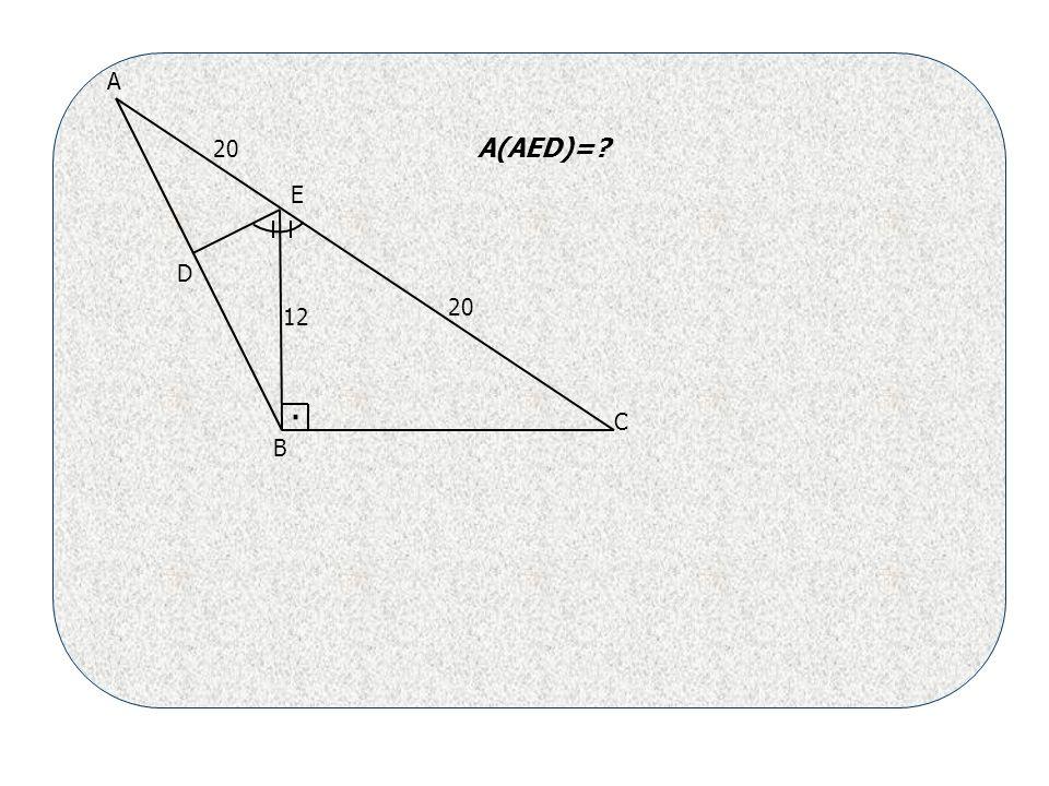 20 12 A B C D E A(AED)= .
