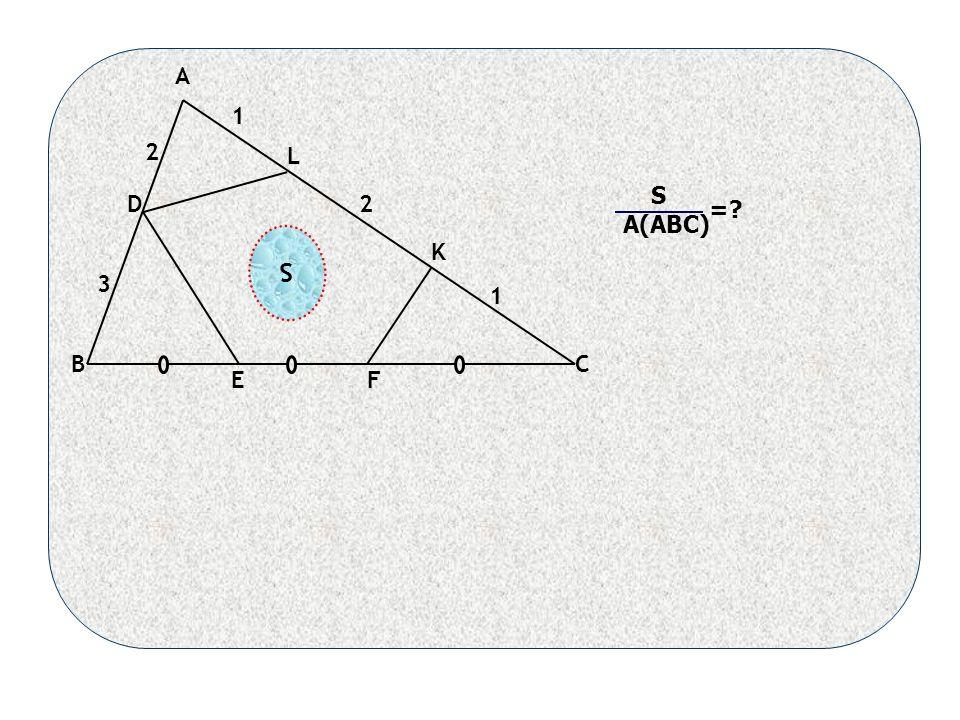 1 2 1 2 3 S A(ABC) = A BC D EF K L S
