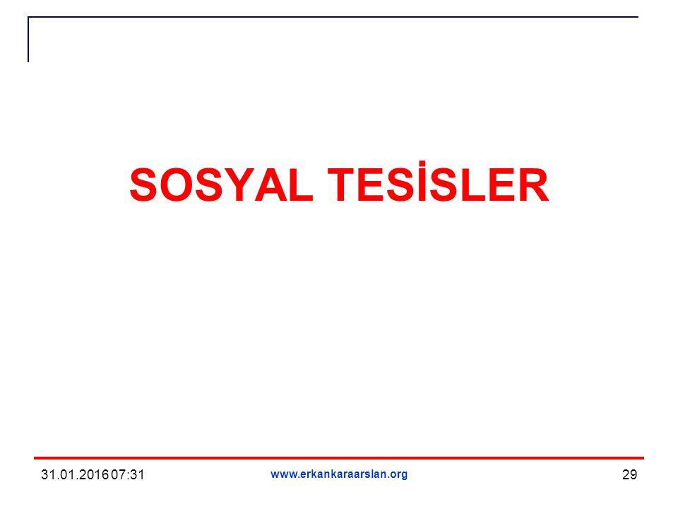 SOSYAL TESİSLER 31.01.2016 07:33 www.erkankaraarslan.org 29