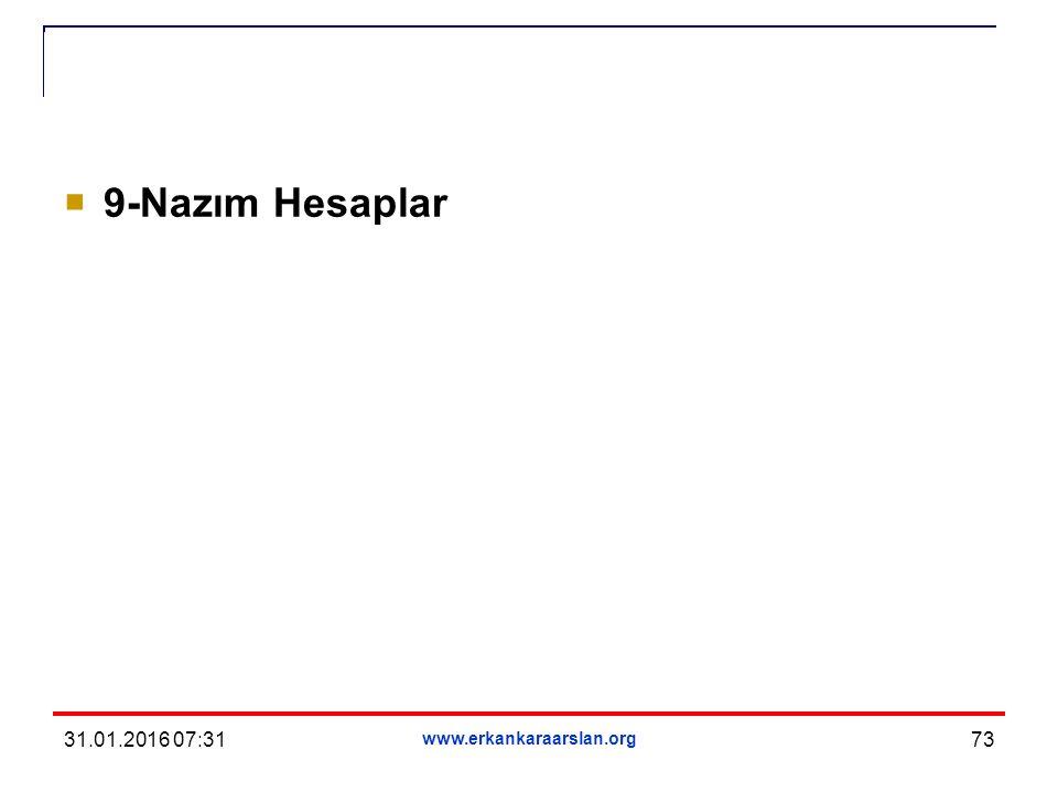  9-Nazım Hesaplar 31.01.2016 07:33 www.erkankaraarslan.org 73