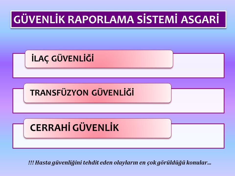 İLAÇ GÜVENLİĞİ TRANSFÜZYON GÜVENLİĞİ CERRAHİ GÜVENLİK !!.