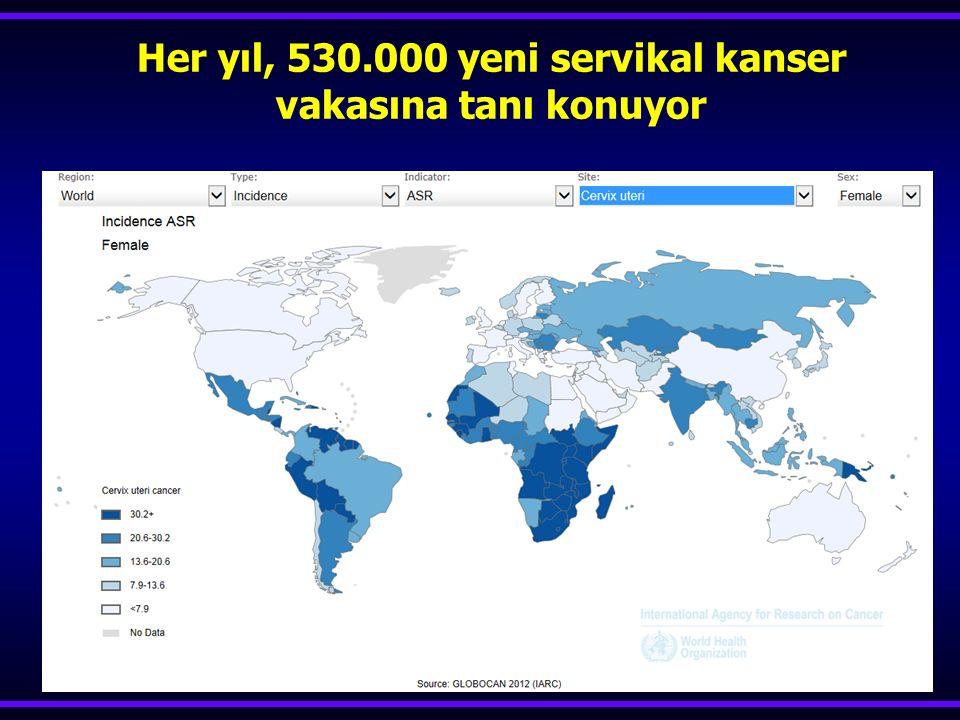 167 adenokanser, HPV ile % 93 saptanabilmiş Castellsague,JNCI,2006 HPV (+),sitoloji (-) ise 5 yılda adenokanserlerin % 63'ü yakalanabilmiş Katki,Lancet Oncol,2011 ADENOKANSER YAKALAMA ORANI