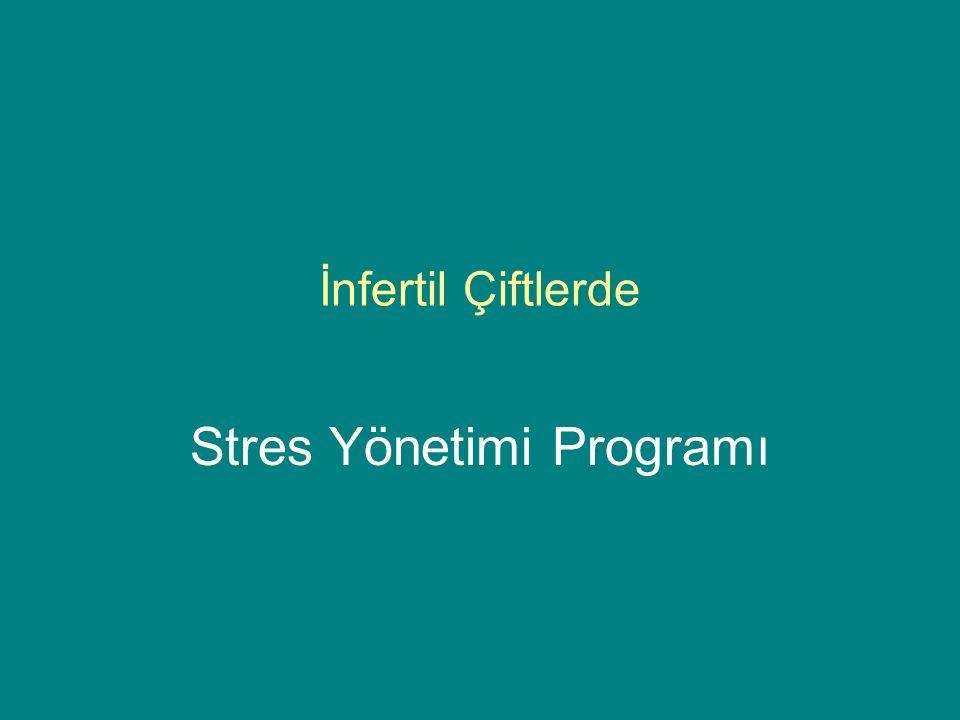 İnfertil Çiftlerde Stres Yönetimi Programı