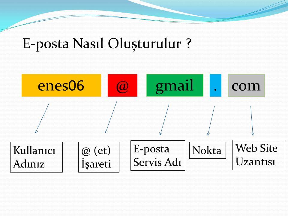 E-posta Nasıl Oluşturulur .