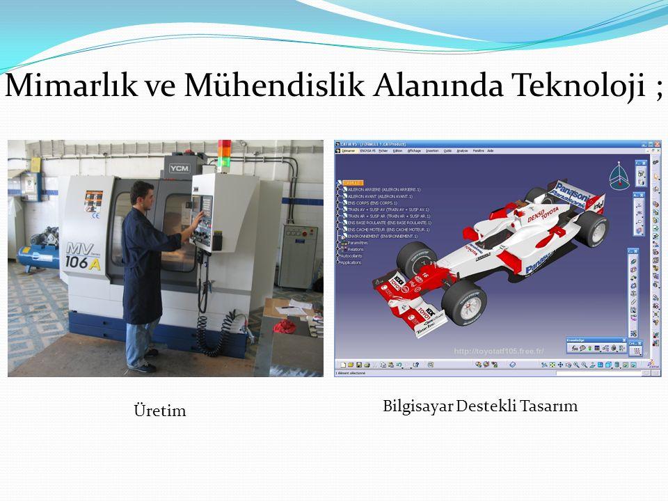 Üretim Bilgisayar Destekli Tasarım Mimarlık ve Mühendislik Alanında Teknoloji ;