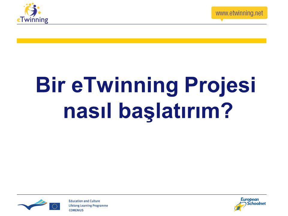 Bir eTwinning Projesi nasıl başlatırım?