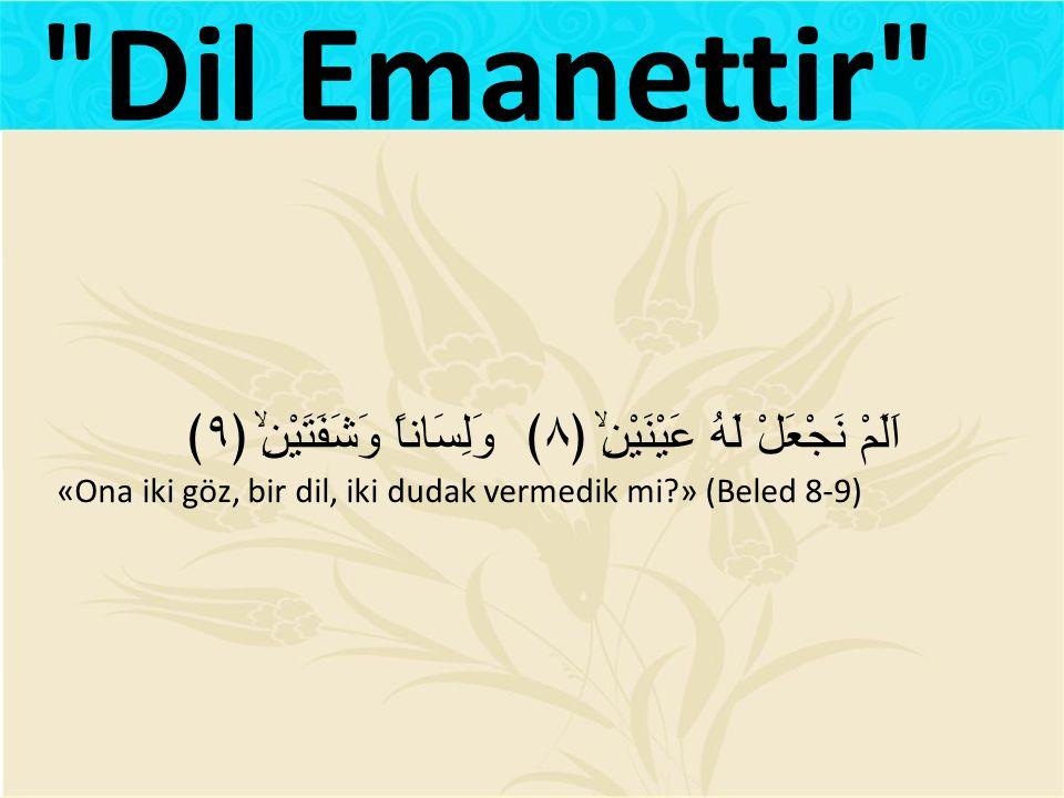 Hz Ali (r.a): Dilinizi daima iyi kullanın.