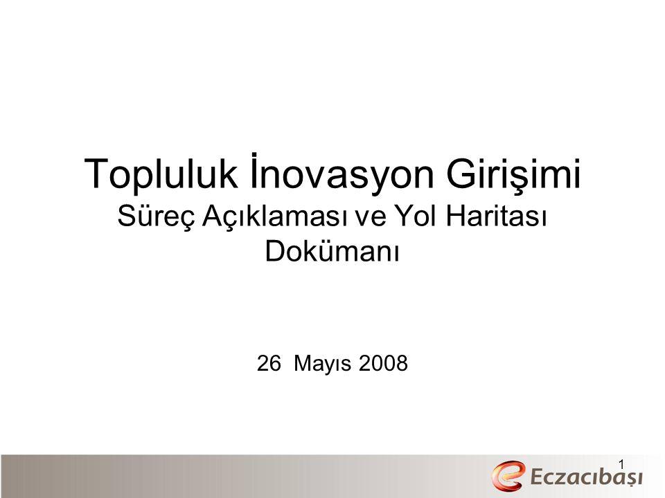 Topluluk İnovasyon Girişimi Süreç Açıklaması ve Yol Haritası Dokümanı 26 Mayıs 2008 1