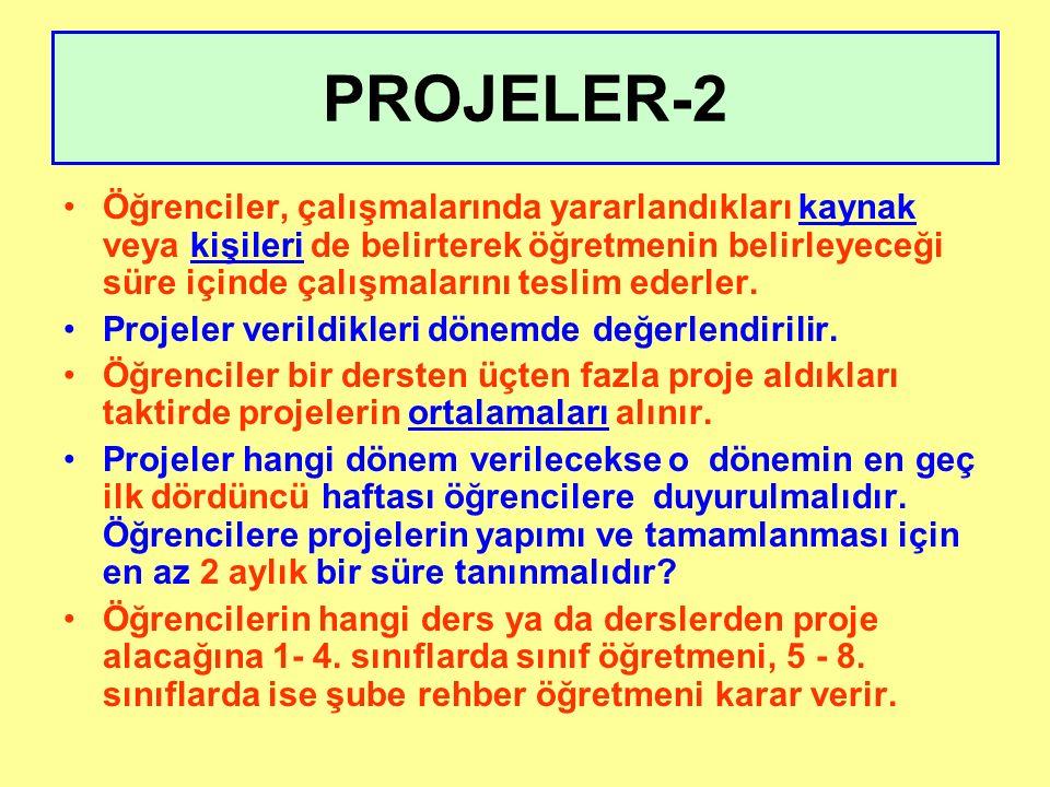 7. SINIFLAR TERCİHLİ PROJE LİSTESİ