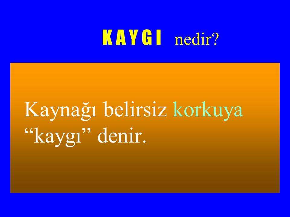 KAYGININ SEBEPLERİ
