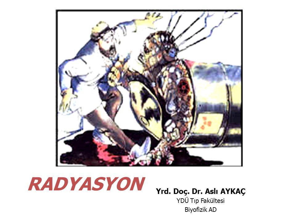 RADYASYON Yrd. Doç. Dr. Aslı AYKAÇ YDÜ Tıp Fakültesi Biyofizik AD