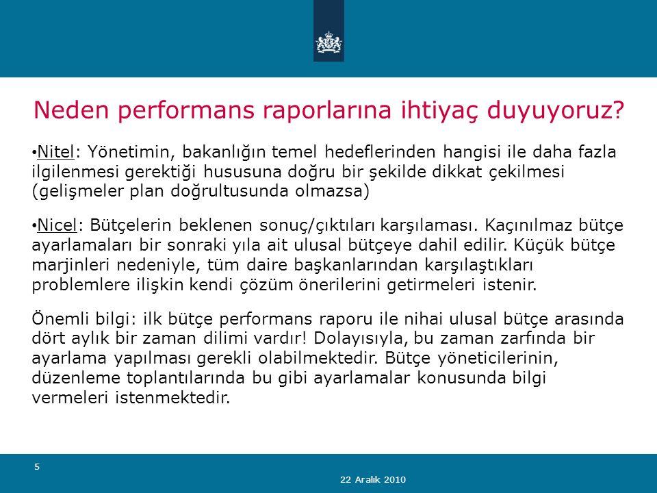 22 Aralık 2010 5 Neden performans raporlarına ihtiyaç duyuyoruz.