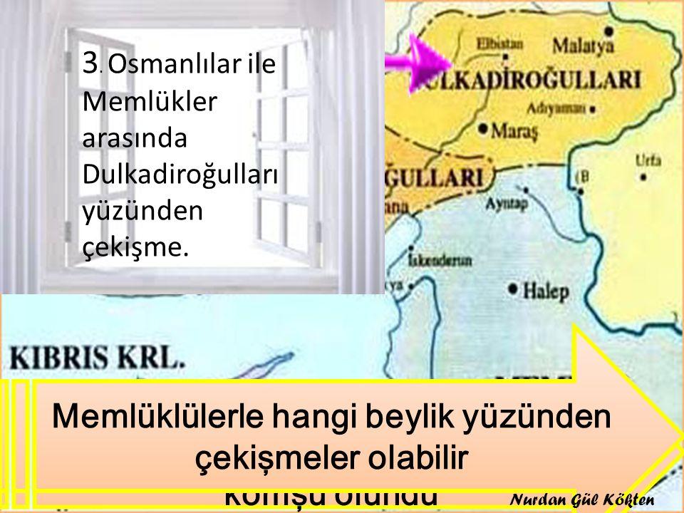 II. Bayezit Döneminde Karaman oğulları alınınca hangi beyliklerle komşu olundu Memlüklülerle hangi beylik yüzünden çekişmeler olabilir 3. Osmanlılar i