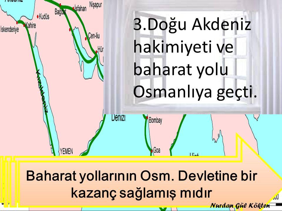 Görsele göre Mısır Seferinin sonuçlarını söyleyiniz 3.Doğu Akdeniz hakimiyeti ve baharat yolu Osmanlıya geçti. Baharat yollarının Osm. Devletine bir k