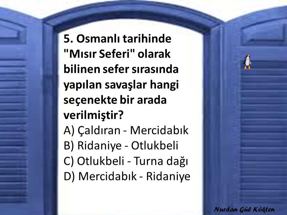5. Osmanlı tarihinde