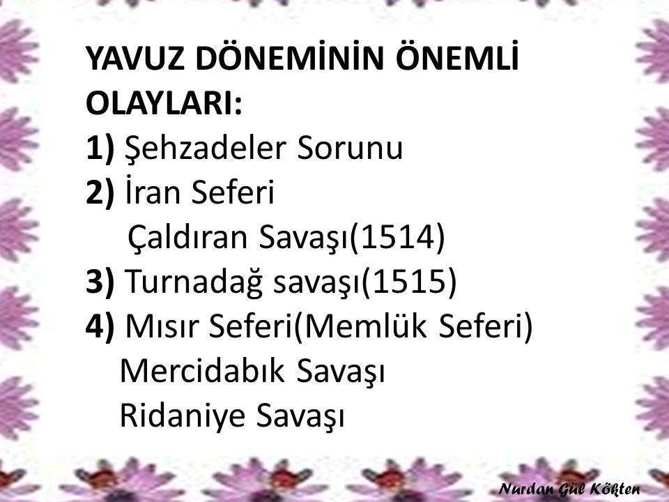 Şehzadeler Sorunu Şehzade Ahmed- Amasya, Şehzade Korkut-Manisa, Şehzade Selim-Trabzon, Şehzade Şehinşah-Konya.