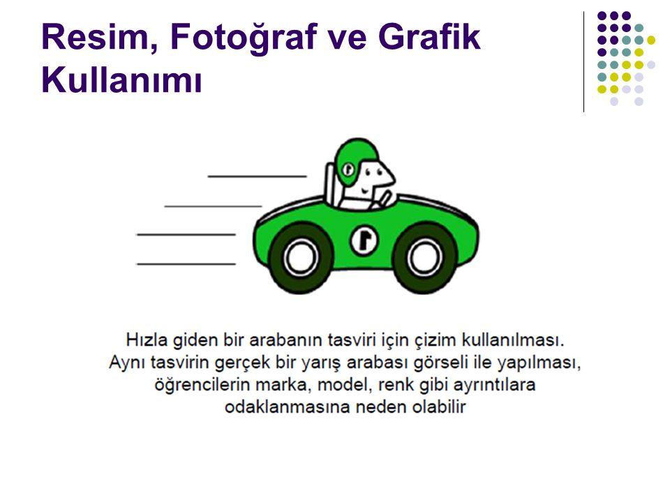 Resim, Fotoğraf ve Grafik Kullanımı