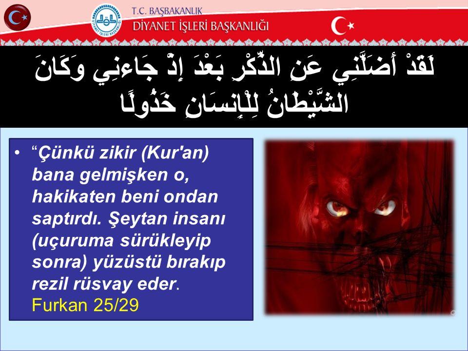 9 وَقَالَ الرَّسُولُ يَا رَبِّ إِنَّ قَوْمِي اتَّخَذُوا هَذَا الْقُرْآنَ مَهْجُورًا Peygamber der ki: Ey Rabbim.