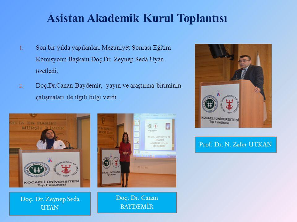 Asistan Akademik Kurul Toplantısı 1.