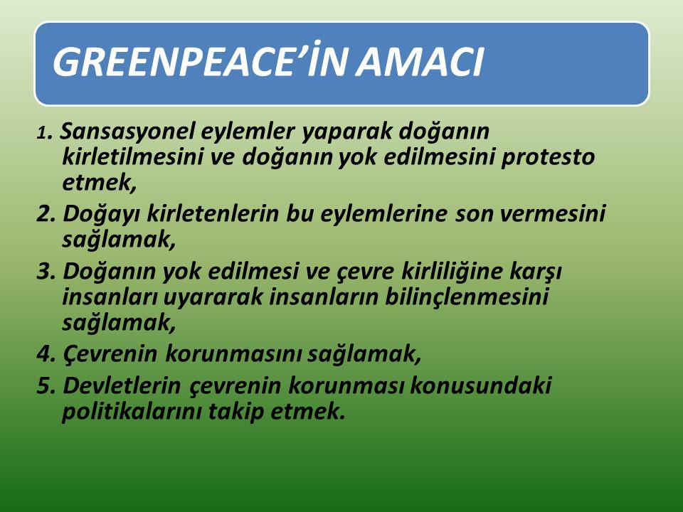 GREENPEACE'İN AMACI 1.