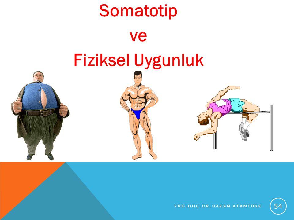 Somatotip ve Fiziksel Uygunluk YRD.DOÇ.DR.HAKAN ATAMTÜRK 54