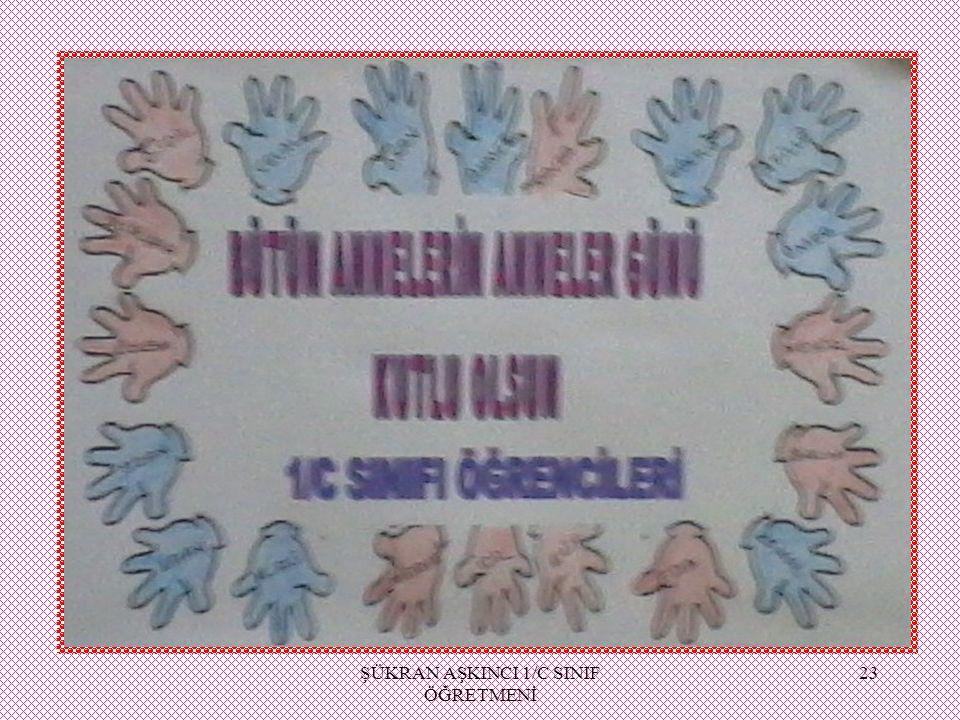 ŞÜKRAN AŞKINCI 1/C SINIF ÖĞRETMENİ 23