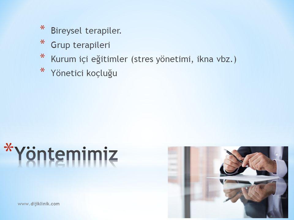 www.dijiklinik.com * Uzman psikolog tarafından uygulanan seanslar.