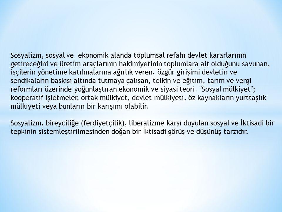 NİÇİN SOSYALİZM.