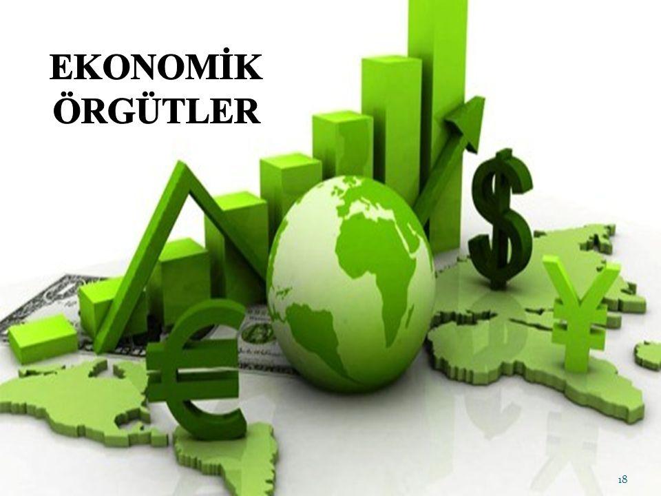 EKONOMİK ÖRGÜTLER Ekonomik örgütler, üretim, girdi temini, işleme, pazarlama vb.