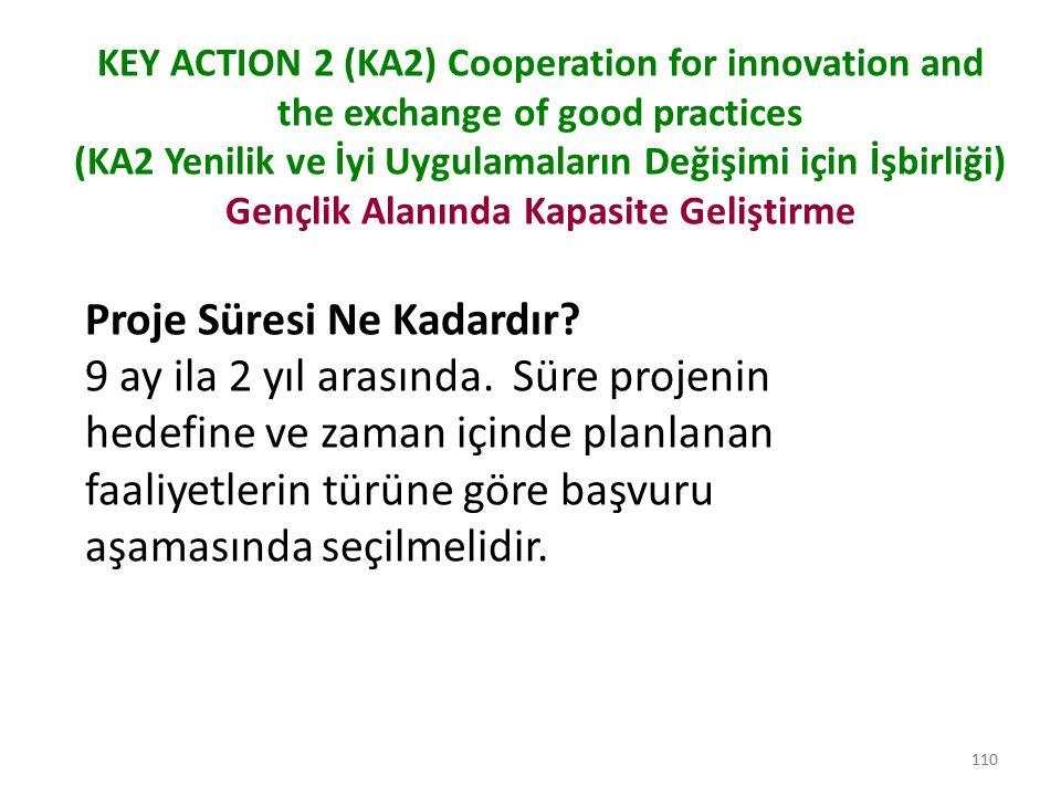 111 KEY ACTION 2 (KA2) Cooperation for innovation and the exchange of good practices ( KA2 Yenilik ve İyi Uygulamaların Değişimi için İşbirliği) Gençlik Alanında Kapasite Geliştirme Yükseköğretim Alanında Kapasite Geliştirme (TR, EN) Açıklama yok.