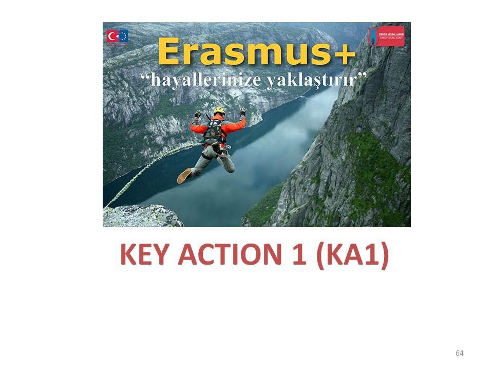 KEY ACTION 1 (KA1) 64