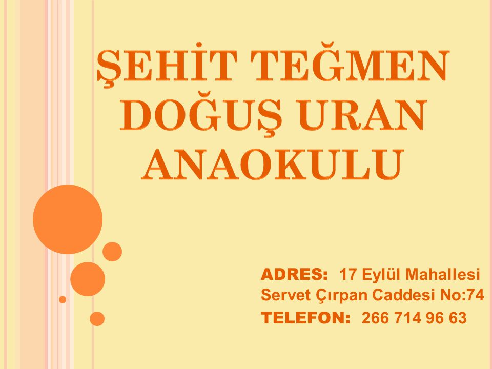 ADRES: 17 Eylül Mahallesi Servet Çırpan Caddesi No:74 TELEFON: 266 714 96 63