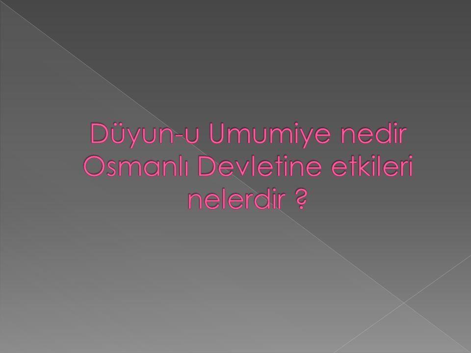Osmanlı Devletinin Avrupa Devletlerine olan dış borçlarını ödemek için kurduğu idaredir.