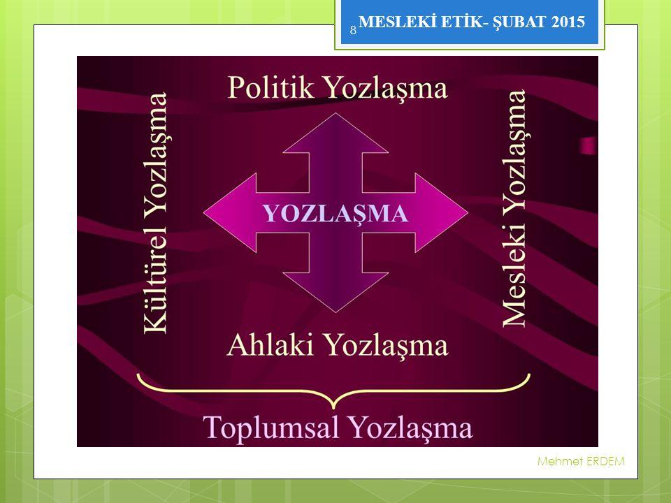 MESLEKİ ETİK- ŞUBAT 2015 Mehmet ERDEM 8