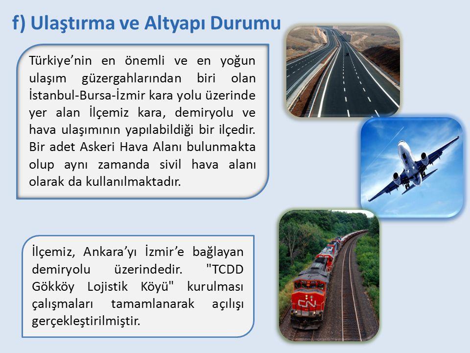 Türkiye'nin en önemli ve en yoğun ulaşım güzergahlarından biri olan İstanbul-Bursa-İzmir kara yolu üzerinde yer alan İlçemiz kara, demiryolu ve hava u
