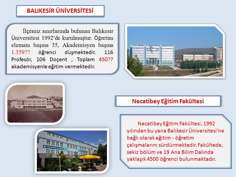 Necatibey Eğitim Fakültesi, 1992 yılından bu yana Balıkesir Üniversitesi'ne bağlı olarak eğitim - öğretim çalışmalarını sürdürmektedir. Fakültede, sek