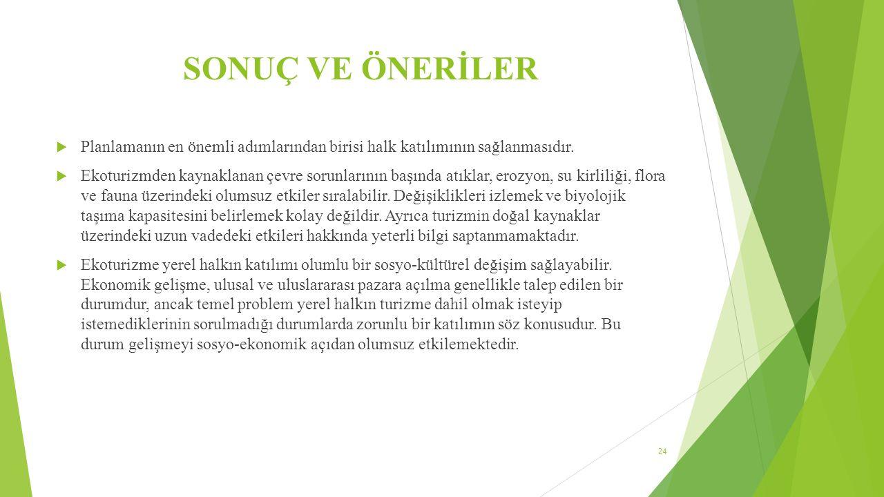 KAYNAKLAR  Uçar, M.Çeken, H. Ökten, Ş. 2010.