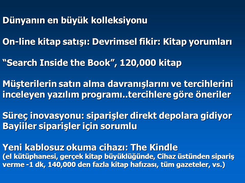 """Dünyanın en büyük kolleksiyonu On-line kitap satışı: Devrimsel fikir: Kitap yorumları """"Search Inside the Book"""", 120,000 kitap Müşterilerin satın alma"""