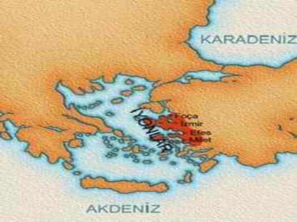 İYONLAR Önemli İyon şehir devletleri Milet, Efes, Foça ve Smyrna 'dır.