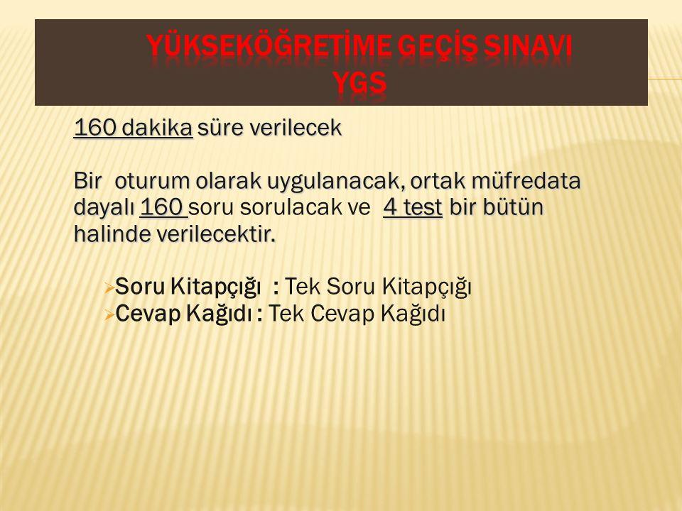 TEST TESTİN KAPSAMI SORU SAYISI Türkçe TestiTürkçeyi kullanma gücü ile ilgili sorular 40 Sosyal Bilimler TestiSosyal Bilimlerdeki temel kavram ve ilkelerle düşünmeye dayalı sorular Tarih............................................................................