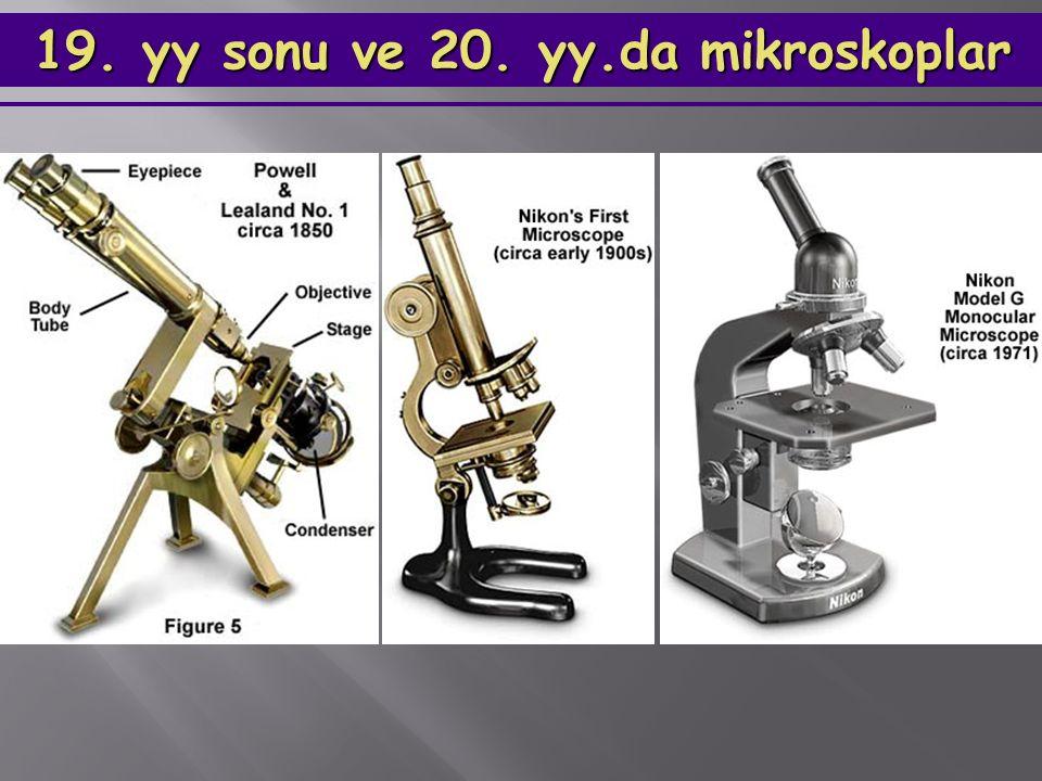 19. yy sonu ve 20. yy.da mikroskoplar 19. yy sonu ve 20. yy.da mikroskoplar