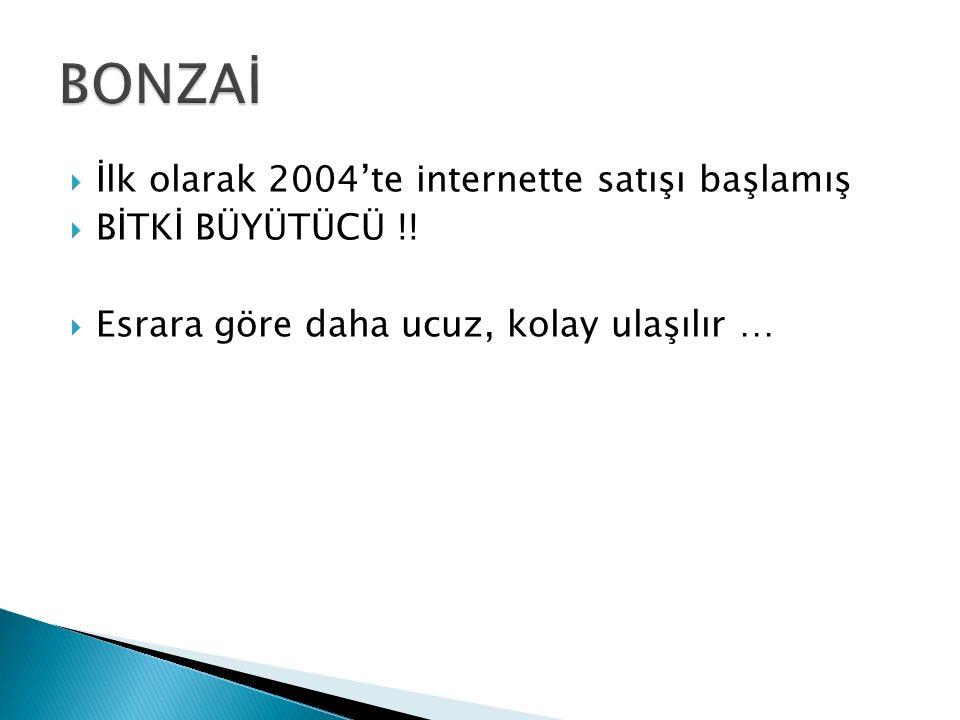  İlk olarak 2004'te internette satışı başlamış  BİTKİ BÜYÜTÜCÜ !!  Esrara göre daha ucuz, kolay ulaşılır …
