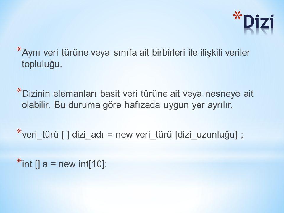 public class kabarcikSiralama { final static int maksEleman = 2000; public static void main(String[]args) { int n; Scanner klavye = new Scanner(System.in); int[] liste = new int[maksEleman]; //listeyi yarat System.out.print( Liste boyunu giriniz: ); n = klavye.nextInt(); for(int i=0; i<n; i++) liste[i] = (int)Math.round(Math.random()*5)+1; liste = kabarcik(liste,n); System.out.println( Sirali Liste: ); for(int i=0; i<n; i++) System.out.println(liste[i]); } //------------------------------------------ public static int[] kabarcik(int[] x, int boy) { int gecici; for(int k=1; k<boy; k++) for(int i=0; i<boy-k; i++) if(x[i]>x[i+1]) { gecici = x[i]; x[i] = x[i+1]; x[i+1] = gecici; } return x; }} Static bir metod icinden (main) static bir baska metodu (kabarcik) cagirdigimiz icin, ve her ikisi de ayni sinif icinde tanimli oldugu icin sadece adini kullanmamiz yeterli.