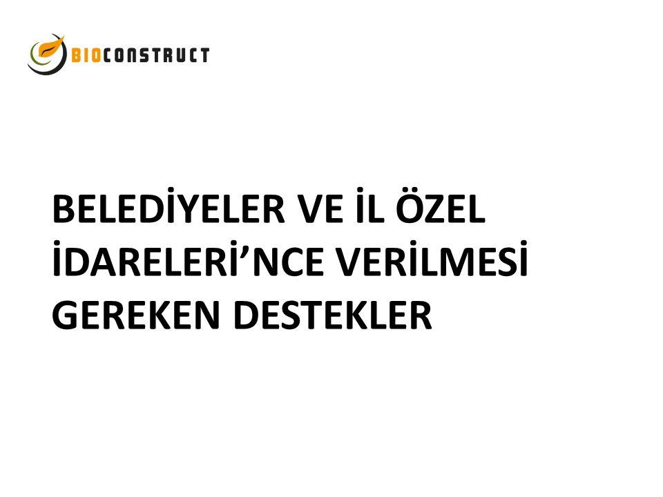 BELEDİYELER VE İL ÖZEL İDARELERİ'NCE VERİLMESİ GEREKEN DESTEKLER