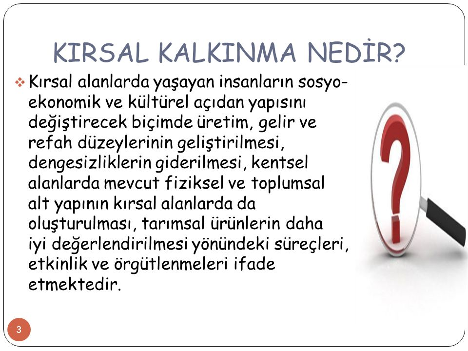 KIRSAL KALKINMA NEDİR.