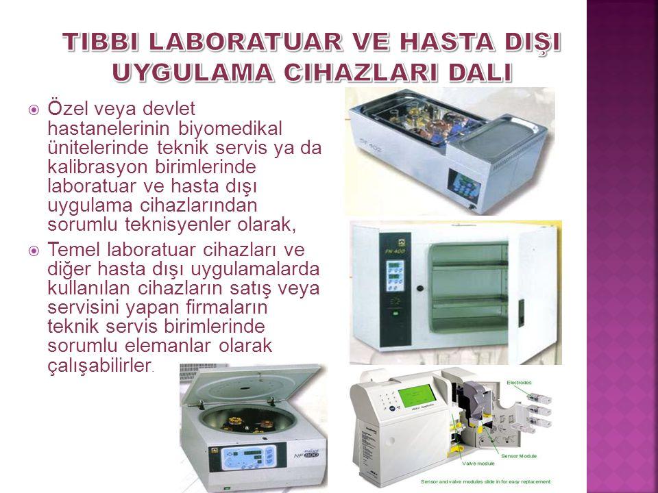 BİYOMEDİKAL CİHAZ TEKNOLOJİLERİ ALANI Tıbbi Laboratuar ve Hasta Dışı Uygulama Cihazları Dalı